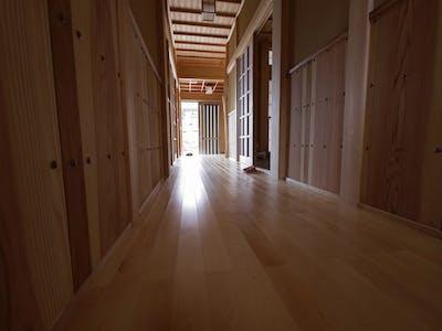 福島県・個人住宅  カバザクラ・ユニ フローリング(セレクトグレード) 施工事例