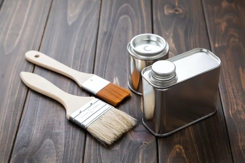 自然塗料の写真です。
